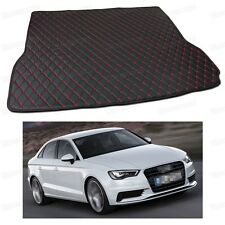 PU Leather Car Trunk Mat Cargo Pad Carpet for Audi A3 Sedan 2014 2015 2016 2017