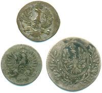Brandenburg-Ansbach+Bayreuth, Lot v. 3 Silbermünzen ab 1793