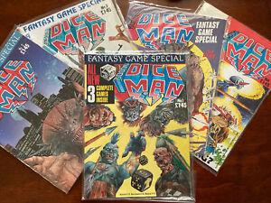 Vintage 2000 AD DICE MAN FULL SET Issues 1, 2, 3,  4 & 5  1986  Gamebooks