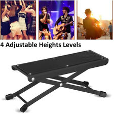 More details for lightweight adjustable guitar foot rest sturdy four easy height settings