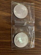 (2) 2018 Canadian Maple Leaf 1 oz 9999 Fine Silver Coins