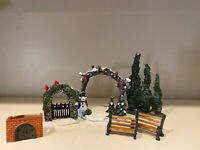 Vintage Christmas Village Tree Trio And Various Outside Scenes Lot 6