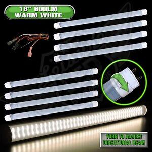 "8 x LED T8 Tube Replacement Warm White Light 18"" 600 LUMEN RV Marine 8-30v 12v"