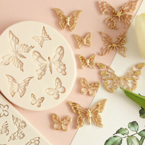 3D Butterfly Silicone Mould Fondant Chocolate Cake Decorating Baking Mold DIY