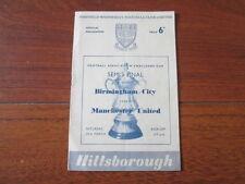 Teams A-B Birmingham City Football FA Cup Fixture Programmes