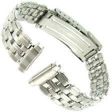 10-14mm Timex Silver Tone Fold Over Buckle Stainless Steel Watch Band 916122