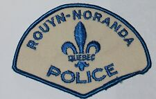 ROUYN-NORANDA POLICE Quebec Canada Canadian PD patch