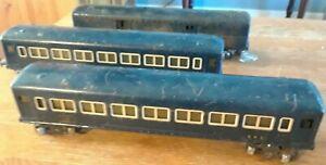 Vintage AMERICAN FLYER model train cars - Royal Blue Coach 495 Baggage Car 490