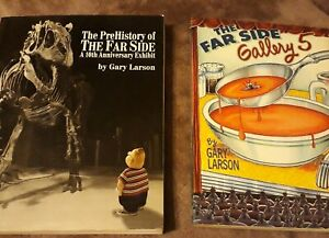 X2 RARE ADULT COMIC BOOKS FAR SIDE GALLERY 5  GARY THE LARSON SET COLLECTORS LOT