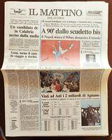 IL MATTINO 23 04 1990 NAPOLI A UNA PARTITA DALLO SCUDETTO MARADONA 4 APRILE