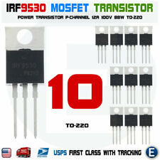 10pcs Irf9530 Irf9530npbf Mosfet Transistor P Channel 12a 100v 88w To 220 Usa