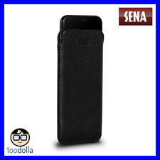 SENA Ultraslim thin genuine leather handcrafted Case/Pouch, iPhone XS Max, Black
