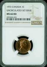 1972 CANADA CENT NGC MS-66 UNCIRCULATED SET SPOTLESS  *