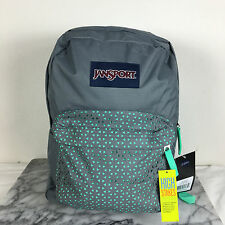 JanSport HIGH STAKES Backpacks Shady Grey/Seafoam Lacer Lace School backpack Bag