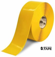 """Mighty Line Floor Tape 4"""" inch Yellow 100' Foot Roll 50 Mil Peel and Stick"""