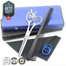 """Processional 5.5"""" Hair Thinning Shear Barber Teeth Texturizing Scissor with Comb"""