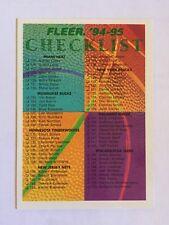 Fleer 1994-95 NBA Basketball Checklist Card #239
