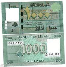 Liban Lebanon  Billet 1000 Livres 2012 2013  NOUVEAU NEW NEUF UNC