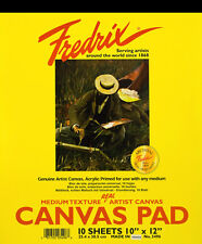 """Fredrix Canvas Pad - 12"""" x 16"""" - Contains Artist Canvas for Oil & Acrylic Paints"""