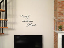 Family decal, family makes this house a home vinyl sticker, family quote