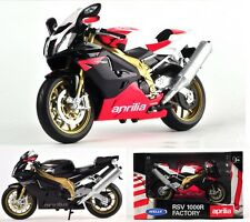 Classic Welly Aprilia RSV 1000R FACTORY Motorcycle 1:10 Model Xmas Gift X1PC