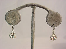 Hanging Earring With Silver #68-A/15 Genuine Tear Drop Shaped Crystal