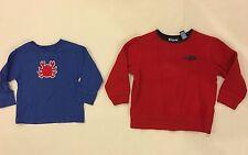 Boys Sweatshirt & Shirt 4T 4 Red Blue Crab Long Sleeve Boy Toddler Tops