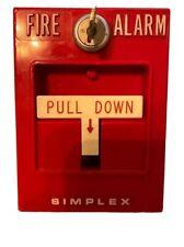 New listing Simplex 4251-20 Vintage Fire Alarm Pull Station (24V Dc) w/ Key