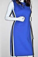 NWT Calvin Klein Knee Length Blue White Women's Sleeveless Color Blocked Dress