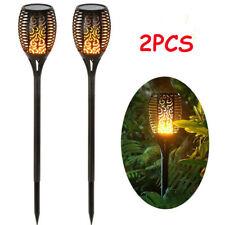 2Psc Outdoor Lawn Waterproof 12Led Solar Lamp Landscape Garden Street Flame Lamp