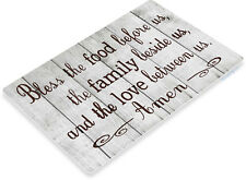 TIN SIGN B806 Bless Family Food Love Kitchen Cottage Beach Farm Rustic Metal