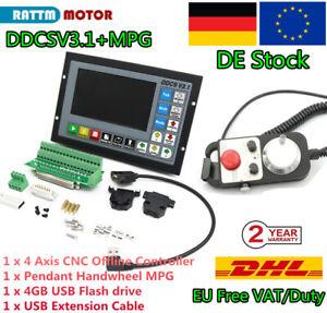 『DE Stock』 4 Axis Offline CNC System Engraving Machine Controller DDCSV3.1 & MPG