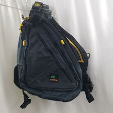 "Kata Camera Bag Sling Crossbody Black Canvas Mesh Front and Back 20"" Wide"