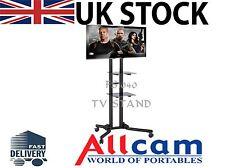 FS940 Led/lcd TV Trolley Floor Stand W/ Mounting Bracket & Glass Shelf