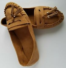 8c5a803cb33 Forever 21 Womens Brown Suede Moccasins Penney Loafers Flats Sz 9.5  Tassels