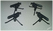 (4) Action Figure Toy Weapons 1:18 Scale M1917 Browning .30 Cal Machine Guns