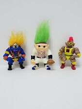 Lot Of 3 Vintage Action Figures Stone Protector, warrior troll & possible troll