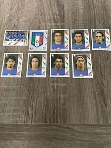 Panini 2006 Germany World Cup - 9 Italy Stickers