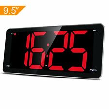 "Beats ZHPUAT 8.9"" Big Screen Digital Alarm Clock with Dimmer Alarm Sound Control"