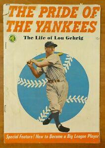 Pride of The Yankees Lou Gehrig Original Comic Book Poor Condition