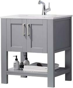 """F&R 30"""" Bathroom Vanity and Sink Combo with Marble Countertop"""