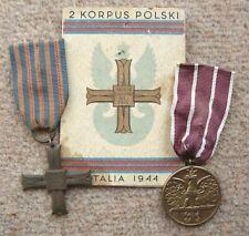 More details for poland. polish monte cassino medal set to kowalczuk.