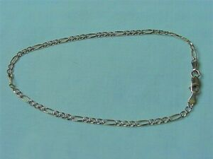 14 KT YELLOW GOLD LINK CHAIN ANKLE BRACELET ITALY