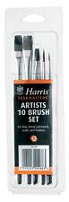 HARRIS ARTIST 10 PIECE PAINT BRUSH SET FINE DETAIL CRAFTS HOBBIES ART PAINTING