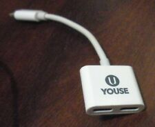 i-Phone mini Charge Adapter for Apple, 1 male, 2 femaie connections, U YOUSE brd