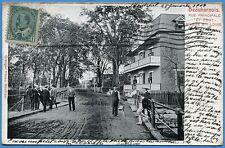 CPA Canada: Beauharnois - Rue principale et pont - Rivière St. Louis / 1904
