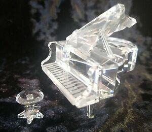 Swarovski crystal Grand Piano and Stool MIB