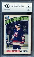 1976-77 O-Pee-Chee #115 Bryan Trottier Rookie Card BGS BCCG 8 Excellent+