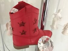 red kids cowboy shoes size 2