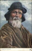 A Deep Sea Fisherman TUCK Oilette #6690 Fishing c1910 Postcard